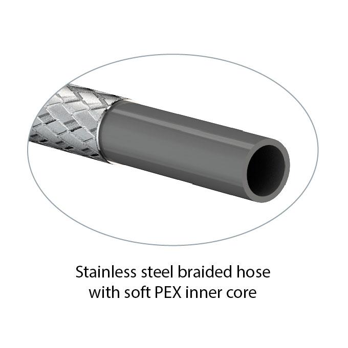 Stainless steel soft pex hose assemblies watersaver