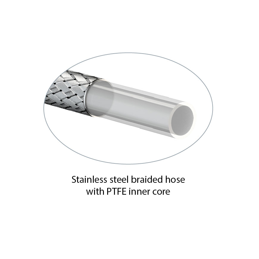 Stainless Steel/PTFE Hose Assemblies – WaterSaver Faucet Co.